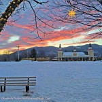Conway Scenic Railroad. North Conway Village. Super Holiday Sunset