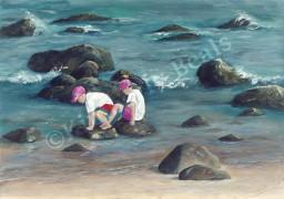 Boys Crabbing at Green Hill Beach