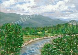Mt. Washington Valley, Moat Mountains and Saco River